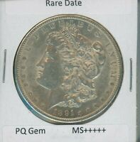 1891 S MORGAN DOLLAR $1 US MINT  DATE GEM PQ SILVER COIN 1891-S MS