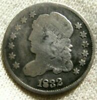 1832 HALF DIME CHOICE CIRCULATED