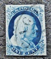 NYSTAMPS US STAMP  8A USED $900