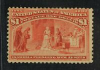 CKSTAMPS: US STAMPS COLLECTION SCOTT241 $1 COLUMBIAN UNUSED