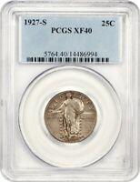 1927-S 25C PCGS EXTRA FINE 40 - KEY DATE - STANDING LIBERTY QUARTER - KEY DATE