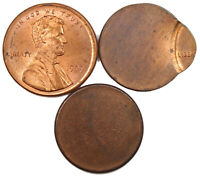 ONE CENT ERROR LOT   OFF CENTER AND BLANK PLANCHET