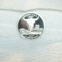 2007 S SILVER PROOF MONTANA STATEHOOD QUARTER 25 CENTS