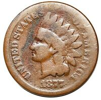 1877 INDIAN HEAD CENT PENNY COVETED LOW MINTAGE SERIES KEY D