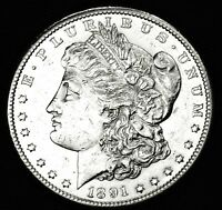 1891-S MORGAN SILVER DOLLAR.       HIGH GRADE  INV.A