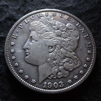 1903-S MORGAN SILVER DOLLAR - CHOICE VF DETAILS FROM THE SAN FRANCISCO MINT