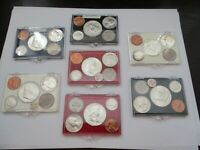 LOT OF 7 UNITED STATES MINT 5 COIN UNCIRCULATED SETS IN HOLD