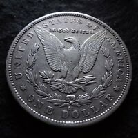 1883-CC MORGAN SILVER DOLLAR - SOLID EXTRA FINE  DETAILS FROM THE CARSON CITY MINT