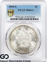 1894-S PCGS MORGAN SILVER DOLLAR SILVER COIN MINT STATE 64  TOUGH THIS