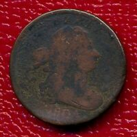 1804 DRAPED BUST HALF CENT NO STEMS LY CIRCULATED SHIPS FREE