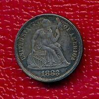 1883 SEATED LIBERTY DIME LOVE TOKEN LIGHTLY CIRCULATED SHIPS FREE
