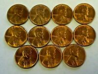 11 1950-S - 1955-S BU RED LINCOLN WHEAT CENTS    8085