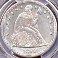 1850-O $1 CLEANED AU DETAILS- PCGS GENUINE - LIBERTY SEATED DOLLAR