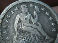 1854 O SEATED LIBERTY SILVER DIME- FINE/VF DETAILS