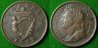 IRELAND GEORGE IV HALF PENNY 1822 IN