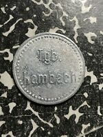 U/D HAMBACH 35 PF. GERMANY PRIVATE NOTGELD TOKEN LOTN128 TGB.  TAGEBAU
