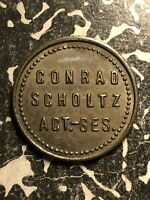 U/D HAMBURG 5 PF. GERMANY PRIVATE NOTGELD TOKEN LOTN130 CONRAD SCHOLTZ AG