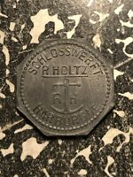 U/D HARBURG 10 PF. GERMANY PRIVATE NOTGELD TOKEN LOTN138 SCHLOSSWERFT R. HOLTZ