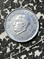 1953 BONN 1 MARK GERMANY TOKEN LOTN308 ADENAUER FLUCHTLINGSSPENDE