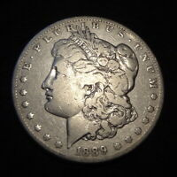 1889-CC MORGAN SILVER DOLLAR - SOLID FINE F DETAILS FROM THE CARSON CITY MINT
