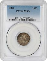 1883 10C PCGS MINT STATE 64 - SEATED LIBERTY DIME