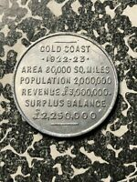 1922 1923 GREAT BRITAIN GOLD COAST COCOA ADVERTISING TOKEN LOTJM1288