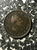 1831 GREAT BRITAIN KING WILLIAM IV 'TRAMPLING LIBERTY' MEDALET LOTJM1298
