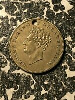 1830 GREAT BRITAIN KING GEORGE IV DEATH MEDALET LOTJM1312