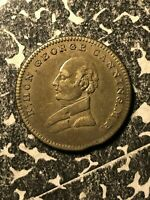 1827 GREAT BRITAIN GEORGE CANNING DEATH MEDALET LOTJM1314