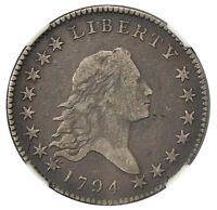 1794 50C NGC VF 20   PLEASING AND  FLOWING HAIR HALF DOLLAR    GRCON