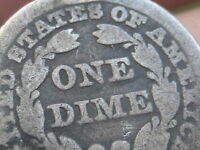 1841 P SEATED LIBERTY SILVER DIME- OLD TYPE COIN