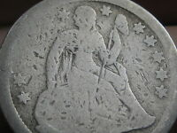 1840-1849 SEATED LIBERTY SILVER DIME- WITH DRAPERY