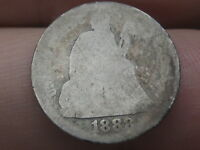 1888 SEATED LIBERTY DIME- LOWBALL, HEAVILY WORN