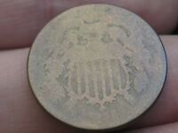 1866 TWO 2 CENT PIECE- CIVIL WAR TYPE COIN