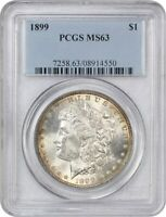 1899 $1 PCGS MINT STATE 63 - MORGAN SILVER DOLLAR