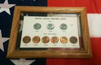UNITED STATES WARTIME CENTS 1943-1945 UNC. IN WALL PLACK