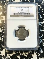 1776 PTS JR BOLIVIA 1 REAL NGC G4 LOTHZ61 SILVER  NEAT EARLY