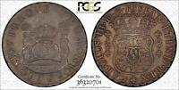 1766 LM JM PERU 8 REALES PCGS XF40 LOTHZ67 LARGE SILVER COIN