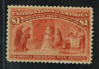 CKSTAMPS: US STAMPS COLLECTION SCOTT241 $1 COLUMBIAN MINT H