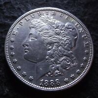 1888-S MORGAN SILVER DOLLAR - SOLID AU DETAILS KEY FROM THE SAN FRANCISCO MINT