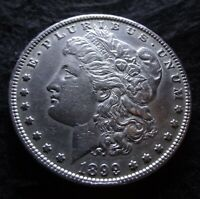 1899 P MORGAN SILVER DOLLAR - CHOICE EXTRA FINE  DETAILS FROM THE PHILADELPHIA MINT