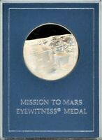 FRANKLIN MINT EYEWITNESS MEDAL   MISSION TO MARS   VIKING 1