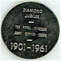 ROYAL CANADIAN ARMY SERVICE CORPS 1901 1961 DIAMOND JUBILEE MEDAL