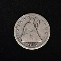 1875 S 20C SEATED LIBERTY SILVER 20 CENT PIECE UNITED STATES TYPE COIN