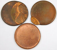 LINCOLN CENT ERROR LOT   OFF CENTER AND BLANK PLANCHET