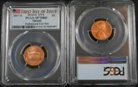 2017 S 1C ENHANCED SET SHIELD PENNY PCGS SP70RD FIRST DAY OF