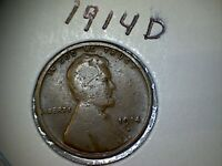 1914 D LINCOLN WHEAT EARS REVERSE SMALL CENTS