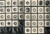 LOT OF 34 ROOSEVELT DIMES   1958 1964   90  SILVER