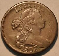 1807/6 DRAPED BUST LARGE CENT MIDDLE TO HIGHER GRADE PENNY S