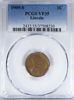 1909 S LINCOLN CENT PCGS VF35